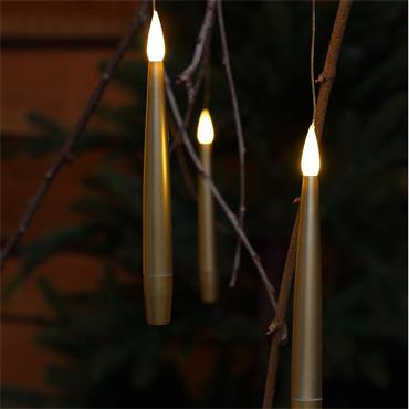 NOMA 10 GOLD REMOTE CONTROLLED MAGIC CANDLES WITH WAND