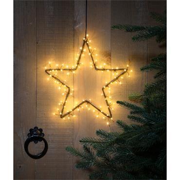 NOMA 30CM ANTIQUE WHITE CLUSTER LIGHT STAR