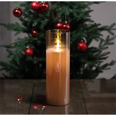 NOMA 30CM GLASS FLICKERING CANDLE