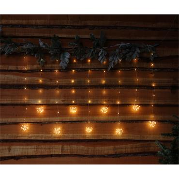 NOMA 235 WARM WHITE MICRO LED FIREWORK CURTAIN WITH SILVER WIRE