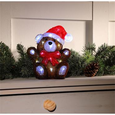 NOMA 27CM ACRYLIC TEDDY BEAR