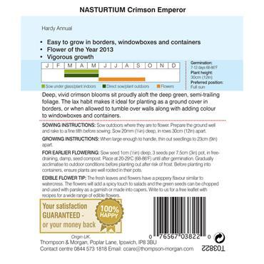 NASTURTIUM CRIMSON EMPEROR