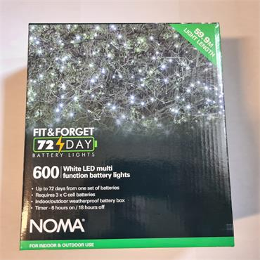 NOMA FIT & FORGET BATTERY LIGHTS WHITE