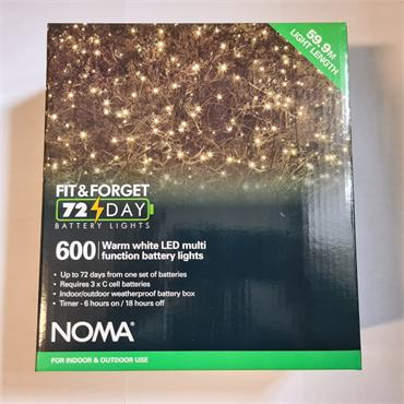 NOMA FIT & FORGET BATTERY LIGHTS WARM WHITE