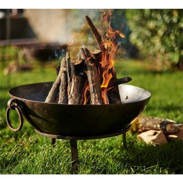 KADAI TULA FIREPIT WITH LOW STAND AND TONGS