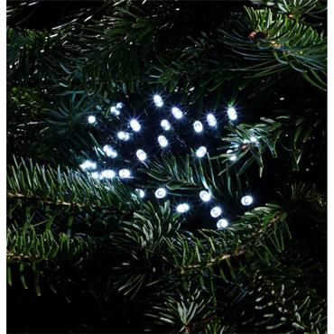NOMA WHITE MULTIFUNCTION STRING LIGHTS - GREEN CABLE