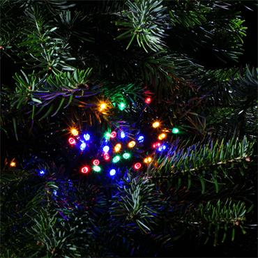 NOMA MULTICOLOUR MULTIFUNCTION STRING LIGHTS WITH GREEN CABLE