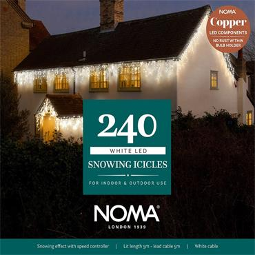 NOMA WHITE SNOWING ICICLES WITH WHITE CABLE