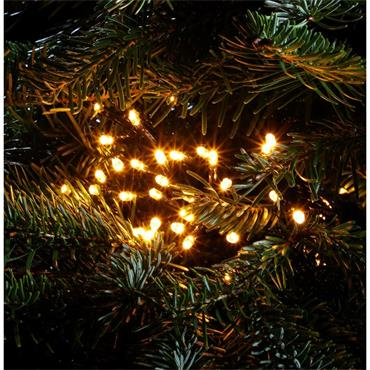 NOMA ANTIQUE WHITE MULTIFUNCTION STRING LIGHTS - GREEN CABLE