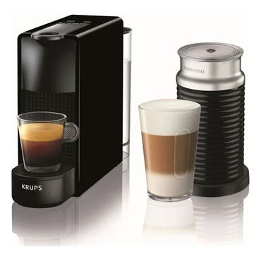 Nespresso Essenza Mini Coffee Machine with Aeroccino by Krups Black | XN111840