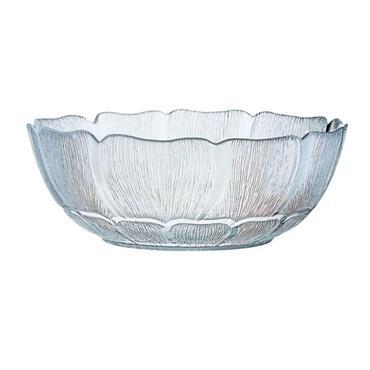 FLEUR GLASS BOWL 27CM