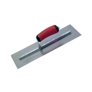 Marshalltown Pre-Worn PermaShape Finishing S/S Trowel DuraSoft Handle 14x5in | M/TMPB14SSD