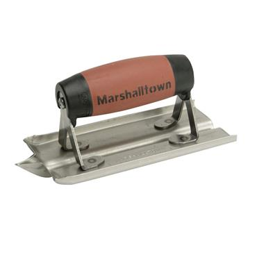 Marshalltown Stainless Steel Groover Trowel DuraSoft® Handle 6 x 3in | M/T180D