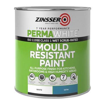 Zinsser Perma White Mould Resistant Paint Interior 1 Litre - Satin White | ZN610351