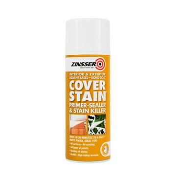 Zinsser Cover Stain Primer Sealer Aerosol 400ml | ZN610474