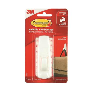 COMMAND 3M LARGE HOOK (1 HOOK 2 STRIPS) | 3M17003