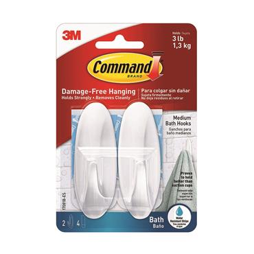 COMMAND 3M MEDIUM BATHROOM HOOK | 3M17081B