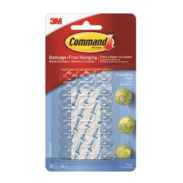 Command 3M Clear Decorating Clips | 3M17026VALUE