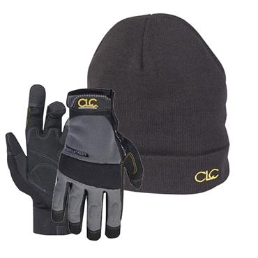 CLC Construction Flexigrip Hi-Dexterity Gloves & Beanie Hat | XMS19GLCOMBO