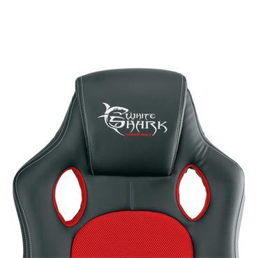 White Shark Kings Throne Gaming Chair - Black Red   534776