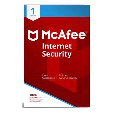 McAfee Internet Security Antivirus - 1 Device (1 Year) | 72-MIS00UNRIRAA