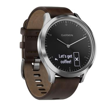 GARMIN VIVOMOVE HR SILVER DARK BROWN | 49-GAR-010-01850-04