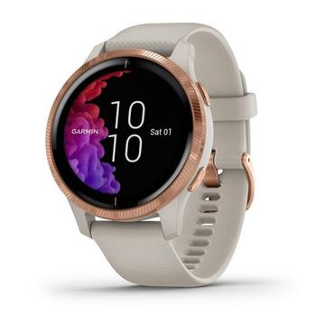 Garmin Venu Activity Tracker Smart Watch - Light Sand and Rose Gold | 49-Gar-010-02173-22