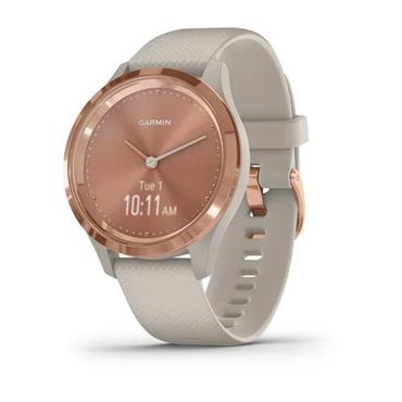 Garmin Vivomove 3s Sport Smart Watch - Rose Tundra | 49-GAR-010-02238-02