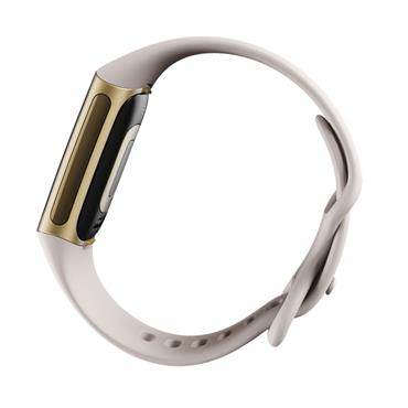 Fitbit Charge 5 Fitness Tracker - Lunar White / Soft Gold | 79-FB421GLWT
