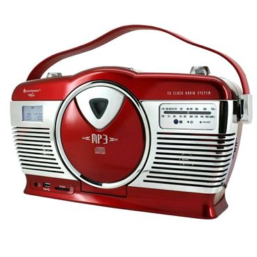 SOUNDMASTER RETRO RADIO CD player RED | RCD1350RD