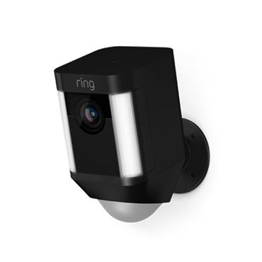 Ring Spotlight Battery Security Camera - Black | 64-8SB1S7-BEU0