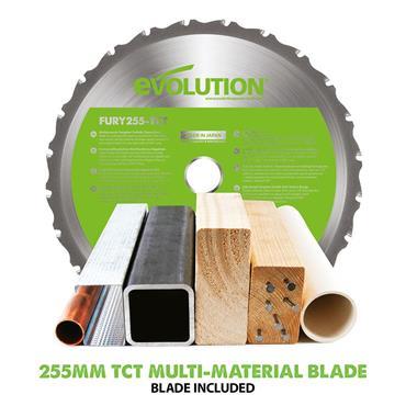 Evolution F255SMS TCT Multi-Material Sliding Mitre Chop Saw 255mm 1600W 240V | HTCF255SMS