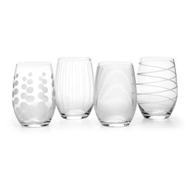 Mikasa Cheers Set Of 4 17Oz Stemless Wine Glasses   5095528