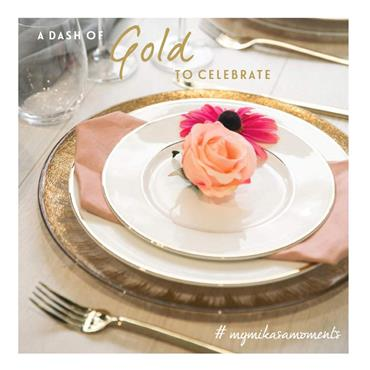 Mikasa Cameo Gold 10.75 Inch Dinner Plate | 5117837