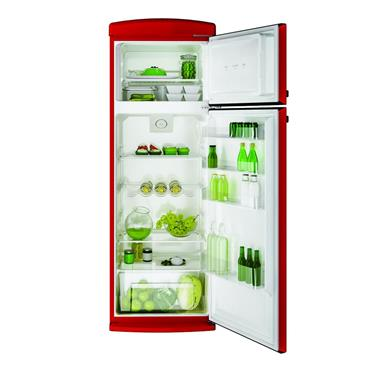 HOOVER 170CM RETRO FRIDGE FREEZER RED | HVRDS6172RKH