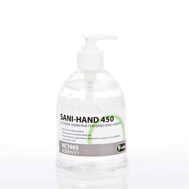 HAND SANITISER ALCOHOL GEL 450ML