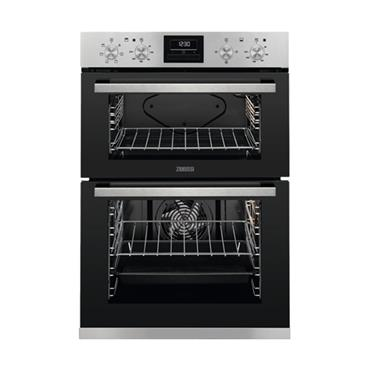 Zanussi Built-In Double Electric Oven - Satinless Steel | ZOD35661XK