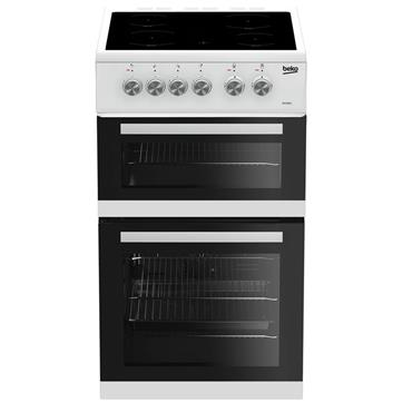 Beko 50cm double oven electric Ceramic Top cooker White | KDVC563AW
