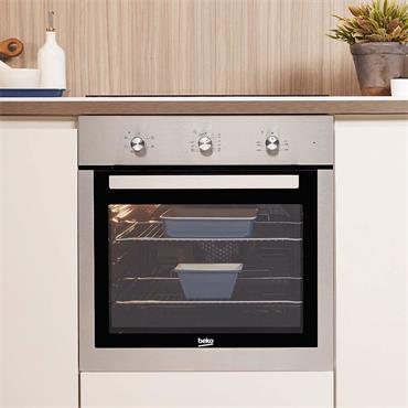 Beko 60cm Single Fan Oven with Mechanical Minute Minder | BIF16100X