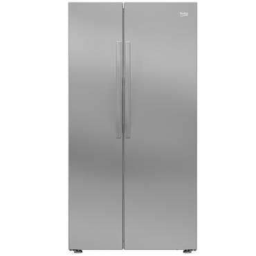 Beko American Style Fridge Freezer silver | RAS121LS
