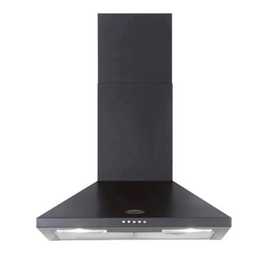 BELLING 60CM BLACK CHIMNEY HOOD | CHIM600RBLK