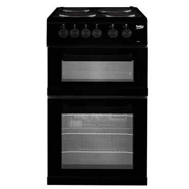 Beko 50cm Twin Cavity Electric Cooker Black | KD533AK