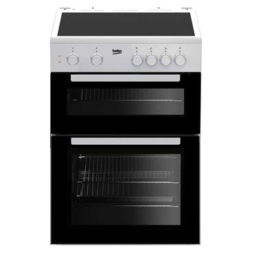Beko 60cm Twin Cavity Electric Cooker White | KTC611W