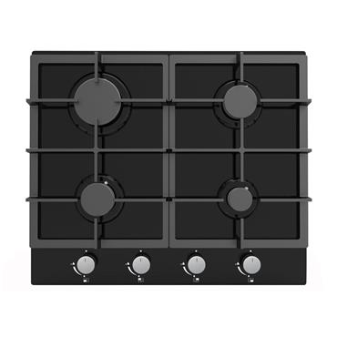 CATA 60CM 4 BURNER GAS ON GLASS GAS HOB | CAUBGOG60BK