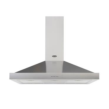 BELLING 90CM CHIMNEY HOOD STAINLESS STEEL | 90CHIMSTA