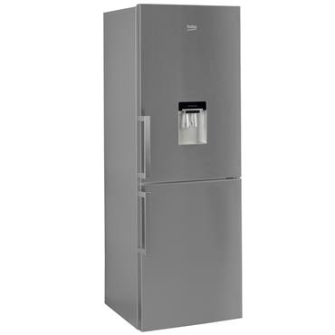 Beko Frost Free Combi Fridge Freezer Stainless Steel with Water Dispenser | CFP1675DX