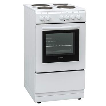 Ideal 50cm Single Cavity Solid Top Electric Cooker White | EURFC50SC