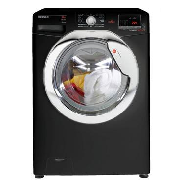 HOOVER 8KG 1600 spin WASHING MACHINE black | DXOC68C3B-80