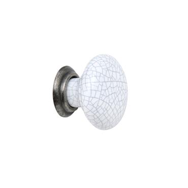 Winchester white ceramic cabinet knob 35mm | 0032055