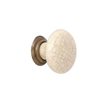 Winchester cream ceramic cabinet knob 35mm | 0032050